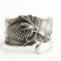 Pine Cones Ring Ponderosa Pinecone Jewelry Sterling by Spoonier