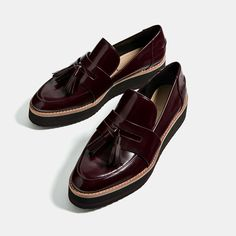 Image 1 of FLATFORM LOAFERS from Zara