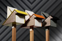 """A little bit quirky, a little bit cute! This is a designer mailbox perfect for those of you who still enjoy the trill of sending andreceivingsnail mail. The concept wasdevelopedby Bill Playso and the design came from industrial designer Justin Hutchinson. Made in Melbourne, the mailbox really screams """"Why be boring, when you can be interesting?"""""""