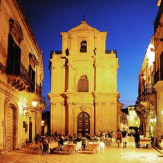 Scicli in Sicily by night magical