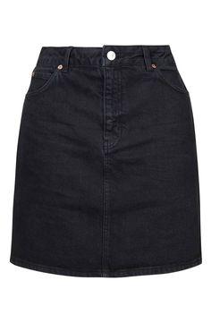 Topshop Denim A-Line Skirt