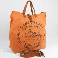 Canvas Logo Tote, CAMPANI by Campomaggi | Marcopoloni front