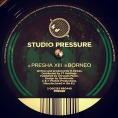 #nowspinning Studio Pressure - Presha XIII/Borneo. Photek Productions: PPR020 (2013). In 2013 Rupert Parkes resurrected the Studio Pressure moniker for this limited release. I remember it coming out but the sound bites didn't stir anything in me and I wasn't back into black crack to need to buy it. Fast forward to this week and the combination of having a gap in your record collection and a cheap mint copy with hand signed print (47/50) won on eBay and it's mine. After a few listens I…