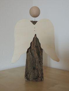 Weihnachten - Holzengel - ein Designerstück von holz-und-ich bei DaWanda
