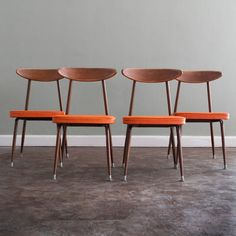 Vintage Danish Modern Baumritter Dining Set - Growing up we had these chairs in our dining room