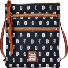 Celebrate your Detroit Tigers pride with this Triple Zip Crossbody purse from Dooney & Bourke! It features authentic team colors and an adjustable shoulder strap so you can show off your die-hard Detroit Tigers fandom wherever you go! Detroit Tigers Apparel, Detroit Sports, Detroit Tigers Baseball, Baseball Field Dimensions, Tiger Lady, Baseball Savings, Baseball Equipment, Crossbody Shoulder Bag