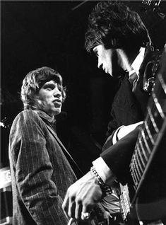 """Mick Jagger & Keith Richards, """"Ready, Steady, Go"""", London, 1966  © BARRIE WENTZELL"""