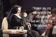 Mother Angelica on the miraculous power of God.