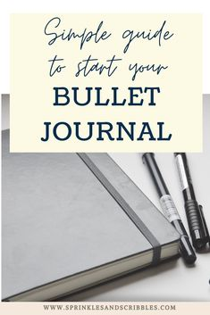 A short and simple guide to starting your bullet journal journey, plus keys to making the system that works for you! Read on to find 3 simple steps on how to start a bullet journal #bulletjournal #startyourbujo Down Quotes, Bullet Journal How To Start A, The Wiggles, Cute Notebooks, Write It Down, Pen And Paper, Page Layout, Scribble, Productivity