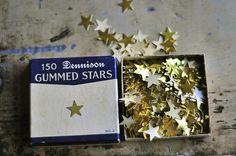 vintage gummed stars