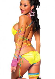 0d40c62f9a Neon Electric Lace Up   UV Reactive Neon Body Wrap from Bodyzone