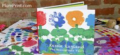 Turn your kid's stack of art into a book of your kid's masterpieces.