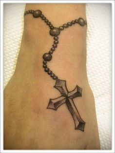 rosary bead tattoos for men - Google Search