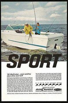Cdi electronics mercury marine mariner stators 174 174 4793 fishing photo ad mercruiser sport stern drive mercury outboard motor boat 1966 fandeluxe Gallery