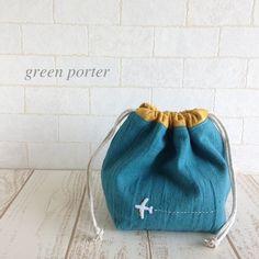 お弁当袋/飛行機/ターコイズ/入園・入学グッズ/男の子   ハンドメイドマーケット minne Diy Embroidery Designs, Embroidery Bags, Diy Tote Bag, Japanese Sewing, String Bag, Gift Bags, Leather Handbags, Textiles, Purses