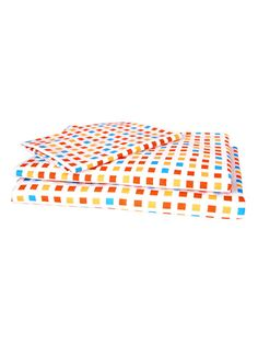 Orange Mosaic 3-Piece Twin Sheet Set by Kukunest on Gilt.com
