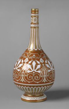 Minton Porcelain Bottle by Christopher Dresser
