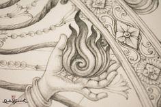 Nataraja — Divyakala - Art Inspired by the Divine Kerala Mural Painting, Tanjore Painting, Indian Art Paintings, Fine Art Drawing, Art Drawings, Disney Movie Posters, Lord Shiva Pics, Nataraja, Hindu Art