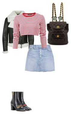"""""""Untitled #1162"""" by carolines-closet ❤ liked on Polyvore featuring Burberry, GRLFRND, Dolce&Gabbana, Gucci, Chanel and Ray-Ban"""
