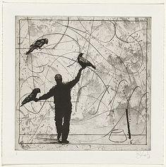 William KENTRIDGE, Bird catching series....saved from NGA