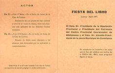 Fiesta del Libro en la Casa de Cultura de Cuenca 1971 Se entregan libros a alumnos destacados de los colegios de Cuenca #Cuenca #Libros #DiasdeLibros #CasaCulturaCuenca