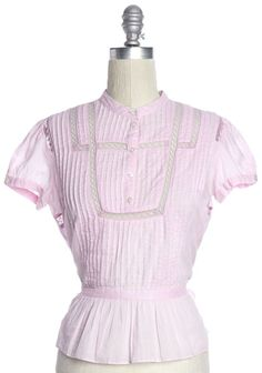 MARC BY MARC JACOBS Pink Cotton Pleated Blouse Size 2 #MarcbyMarcJacobs #Blouse #Casual