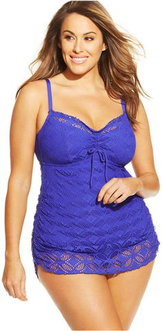 Becca ETC Plus Size Crochet Swimdress - Must find for next summer!