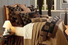 Nantucket Queen Woven Coverlet Primitive Country Bedding | eBay Master Bedroom Design, Dream Bedroom, Bedroom Designs, Bedroom Ideas, Coverlet Bedding, Bedding Sets, Primitive Bedding, Country Bedding, Country Quilts