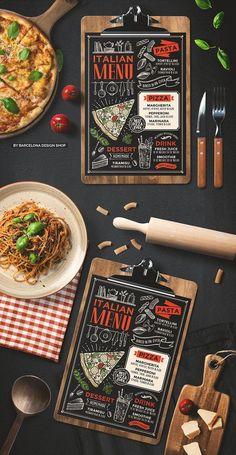 Creative italian menu template for your restaurant business with graphic food illustrations. Pizza Menu Design, Food Menu Design, Food Truck Design, Menu Restaurant, Restaurant Recipes, Pizzeria Menu, Italian Food Menu, Italian Recipes, Comida Pizza