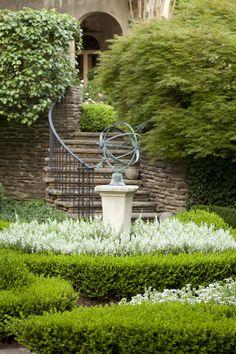Delightful Armillary Sphere Sundial In A Garden By Howard Design Studio