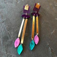 Wie gefallen sie euch?Earrings #handmade #polymerclay #instajewelry #edithartsdesigns #love #valentinesday #washablepaper #travelingartist… Earrings Handmade, My Style, Jewelry, Instagram, Stud Earrings, Purple Earrings, Jewlery, Jewerly, Schmuck