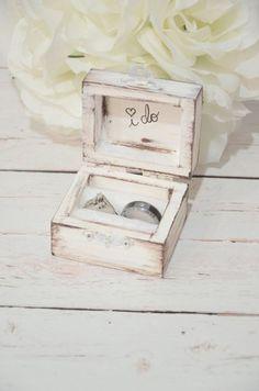 Rustic I DO ring bearer box, personalized ring box, personalized I do ring box, rustic wedding ring box, distressed I do ring box Fall Wedding, Rustic Wedding, Our Wedding, Dream Wedding, Wedding Rings, Diy Wedding Ring Box, Wedding Jewelry, Wedding Dress, Ring Bearer Box