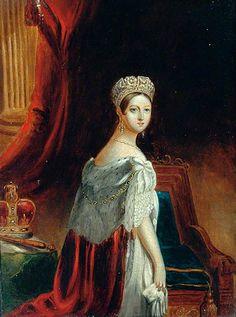 """Queen Victoria in Her Coronation Robes"", ca. 1837; YMT YORCM : DA1325"