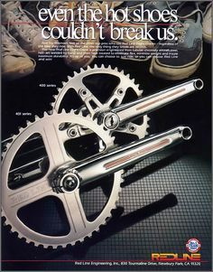even the hot shoes couldn't break us. Red Line Flight Cranks Cycling Art, Cycling Bikes, Cycling Quotes, Cycling Jerseys, Bmx Cranks, 24 Bmx, Bmx Cycles, Velo Retro, Bmx Parts