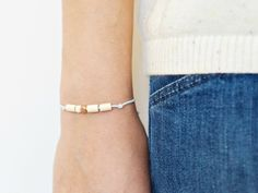 PERLY POP BRACELET ::: COPPER
