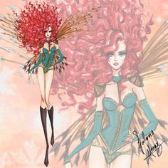 The Disney Princess Victoria's Secret Collection by Guillermo Meraz - Merida
