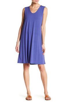 3bde9eb3e2d Eileen Fisher Purple Knit Trapeze Short Casual Dress Size 18 (XL, Plus 0x)
