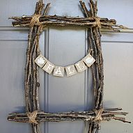 Fall Twig Wreath It doesn't take much to add a little fall flair to your home. This post shows you how to make a Twig Wreath using sticks...