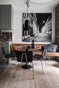 Parquet ancien et briques pour un appartement suédois plein de charme - PLANETE DECO a homes world