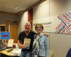 BBC Radio Solent Julian Clegg with DI Andy Horton crime novel, Fatal Catch, and author, Pauline Rowson