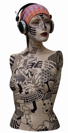 zusje, torso mannequin