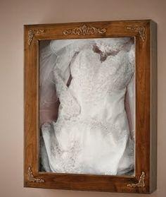 Wedding Dress Preservation Frame Shadow Box Display