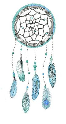 me Illustration art mine myself dream feathers colorful ink turquoise bright my water color dreamcatcher Our sketches drawn catcher turqouis...