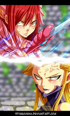 FAIRY TAIL - Erza vs Kyouka by StingCunha