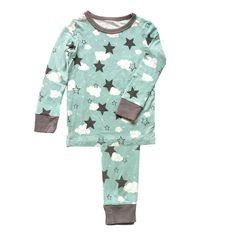 Bamboo 2 pc Pajama Set – Shady Mint Star