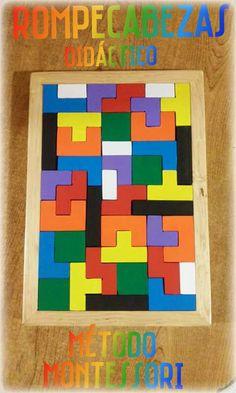 Rompecabezas tetris, juego didáctico, Método Montessori.   Ideal para niños de 3+ Si no sabes como mantener entretenidos y divertidos a tus hijos, esta es una opción, ademas de divertirse, estimulan el cerebro, los mantiene pensando, adquieren destreza y juegan sano.   Envíos a toda la República Mexicana. Wood Crafts, Diy And Crafts, Laser Cutter Ideas, Block Area, Creative Activities For Kids, Handmade Wooden Toys, Lucky Bamboo, Wooden Puzzles, Wooden Blocks