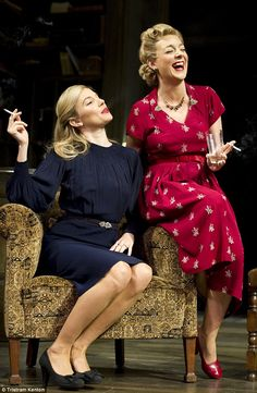 Concentrating on work: In denial about her heartache, Sheridan - seen here with Sienna Mil...