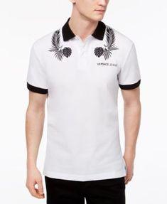 Polo Shirt White, Versace Men, Short Sleeve Polo Shirts, Cotton Shorts, Fashion Accessories, Polo Ralph Lauren, Men's Polo, Sleeves, Polo Online