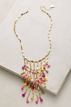 Saffron Tassel Necklace