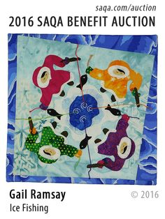 """Ice Fishing"" - art quilt by Gail Ramsay"